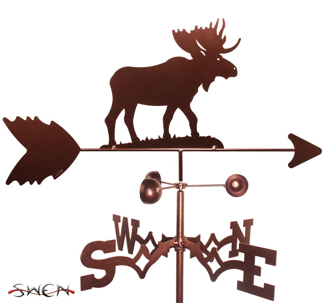 Hand Made MOOSE SIDE Mount Weathervane NEW SWEN Products