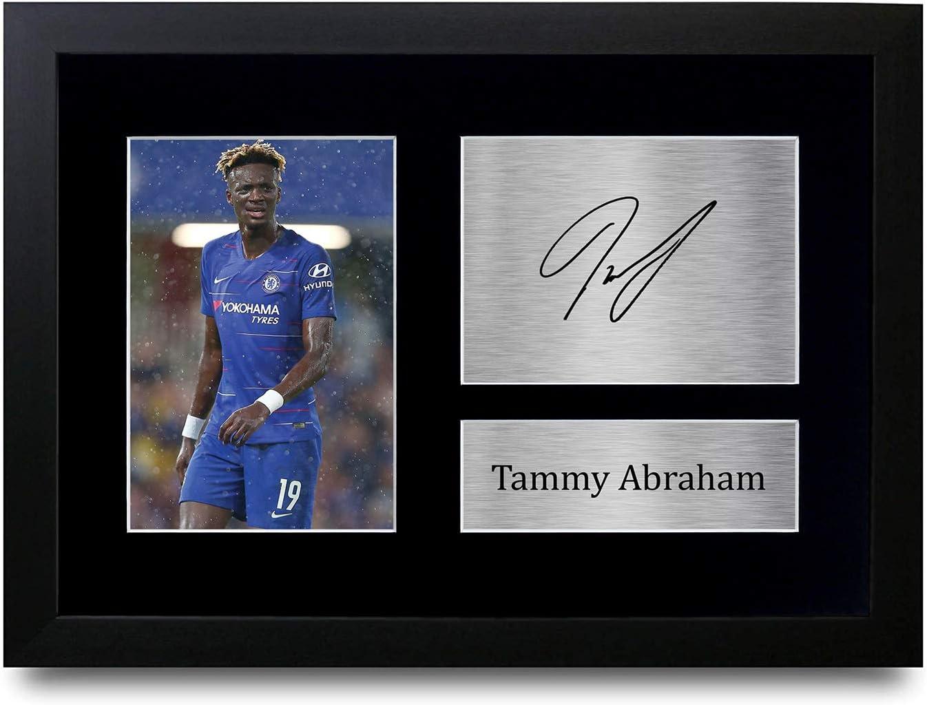 HWC Trading Impression autographe A4 Tammy Abraham Chelsea The Blues Gifts pour fans et supporters