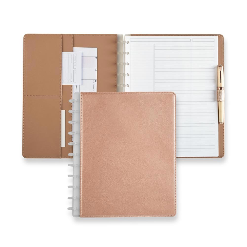 Levenger Circa Rose Gold Foldover Notebook