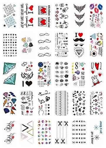 30 sheets sexy lips infinity temporary tattoo Bohemian Hippy
