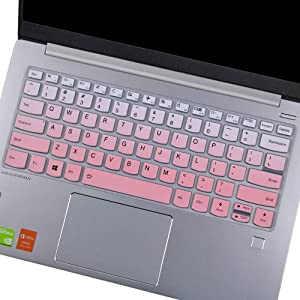 "Keyboard Cover for Lenovo Yoga C940 C930 930 920 13.9"", Lenovo Yoga C940 C740 14, Lenovo Yoga 730 720 720S 13.3""/Yoga 730 15.6""/Yoga 720 12.5""/ Lenovo Flex 14 14"" Keyboard Protective Skin, Ombre Pink"