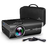 VANKYO LEISURE 410 Vidéoprojecteur Portable 2500 Lumens Rétroprojecteur Mini Projecteur LCD Soutien HD 1080p pour USB HDMI SD VGA AV Compatible avec Amazon Fire TV Stick, Smartphone, Laptop, PS3, PS4, X-Box ONE et Wii (Noir)