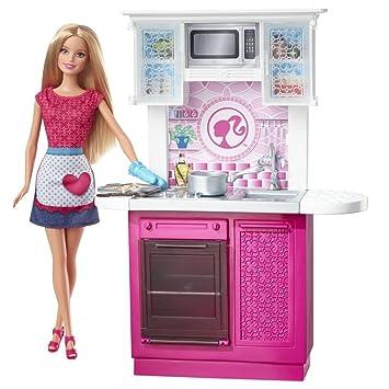 Amazon Es Barbie Muebles De Cocina Cocina De Lujo Con La Muneca