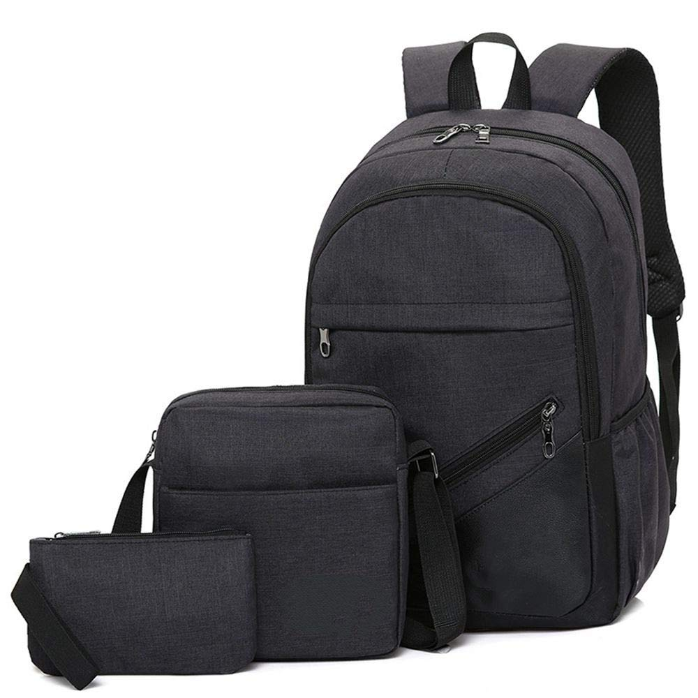 DYR Backpack Casual Shoulder Bag Handbag Men and Women Single Piece Suit Backpack Large pacity Computer Bag Outdoor Travel Bag, Black, 15.6 Inch