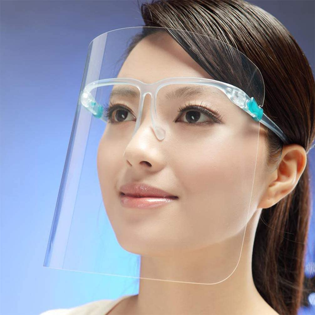 PRETYZOOM Droplets Shield Kitchen Face Protective Cover Shield Kitchen Eye Face Protection Screen Eyeglasses Professional Anti-oil Mask for Restaurant 1pcs