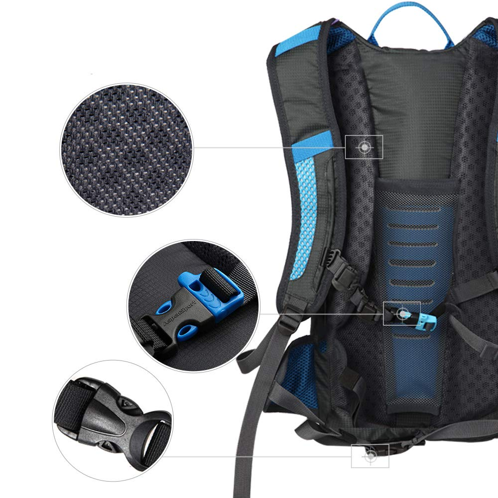 Amazon.com : ASPEN Hydration Backpack with 2L Water Bladder - Lightweight Daypack Water Backpack for Hiking Running Cycling Camping and Mountain Outdoor Air ...