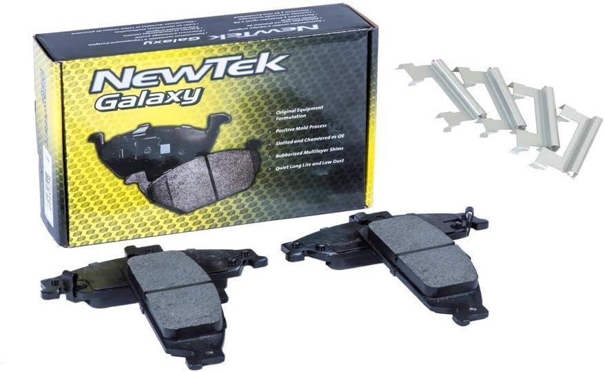 DK1013-1 Front Brake Rotors and Ceramic Pads and Hardware Set Kit