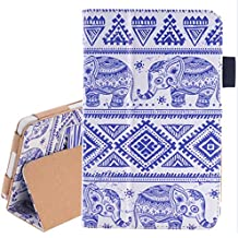 For Kindle Fire HD 6, AMA(TM) Magnetic Ultra Slim Leather Shell Fold Case Cover for Amazon Kindle Fire HD 6 Inch Tablet (D)