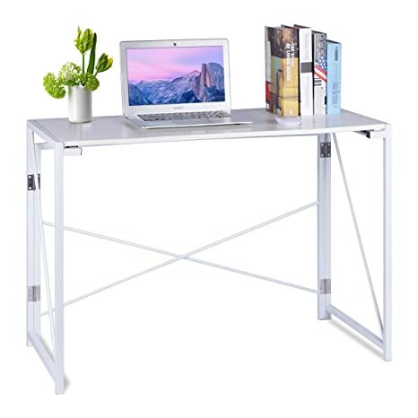 CrazyLynX - Escritorio plegable de madera para ordenador, mesa de trabajo plegable para ordenador portátil
