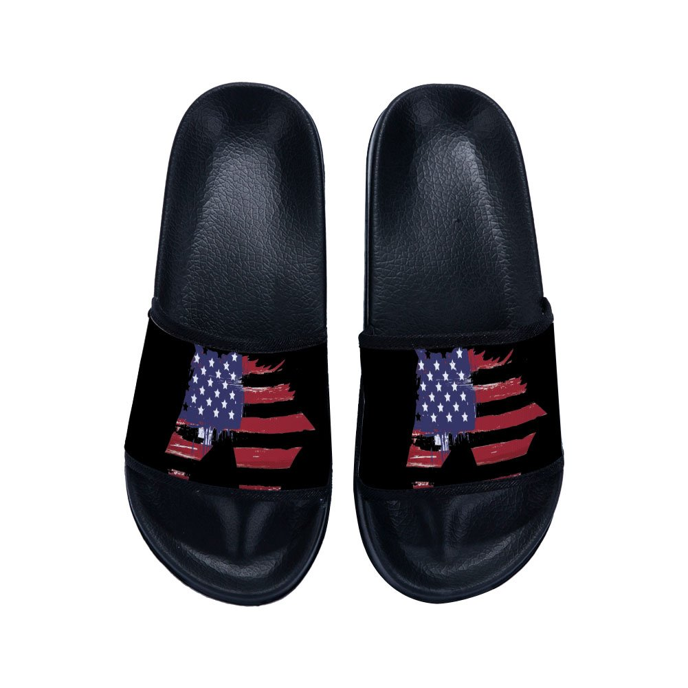 Drew Toby Boys Girls Casual Beach Anti-Slip Bath Slippers American Flag