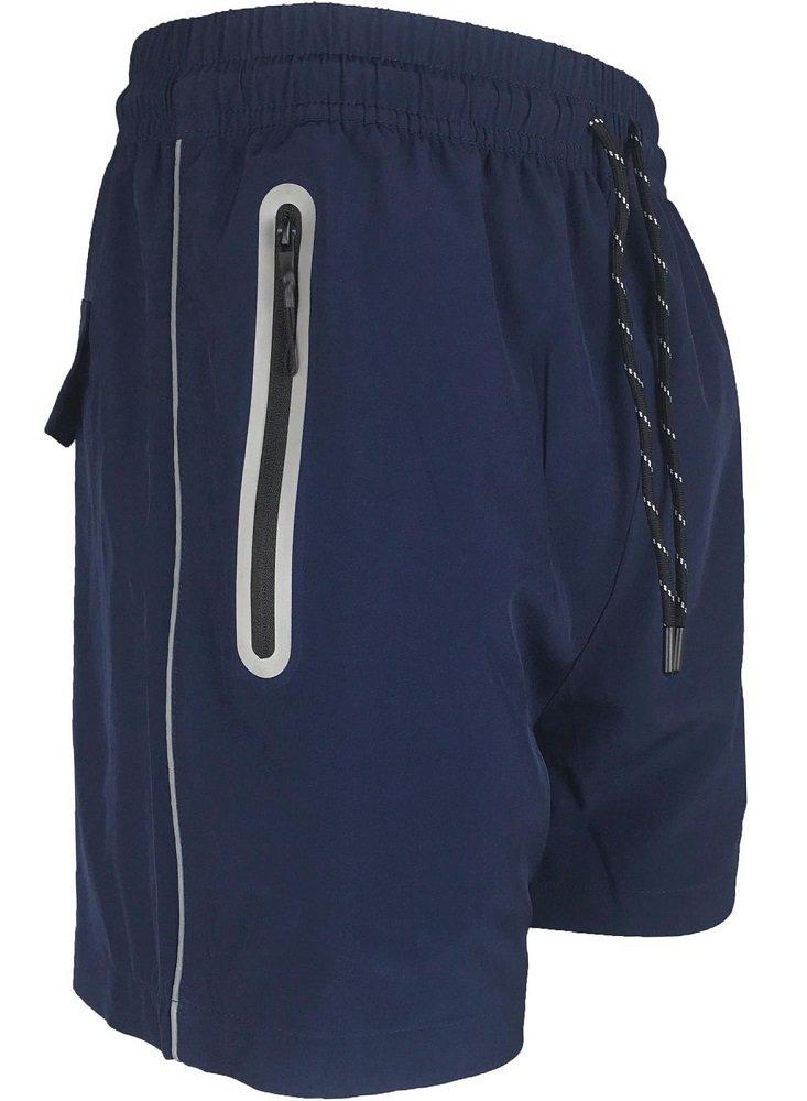Brandslock Mens-Swimming-Shorts-Casual-Summer-Holiday-Beach-Zip-Pockets