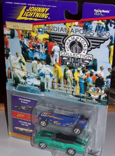 JOHNNY LIGHTNING INDY 500 CHAMPIONS COLLECTION - 1970 Winner Al Unser with pace car Olds 442