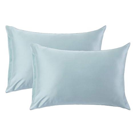Amazon Com Bedsure Queen Size Pillowcase Set Of 2 Blue 100 Modal