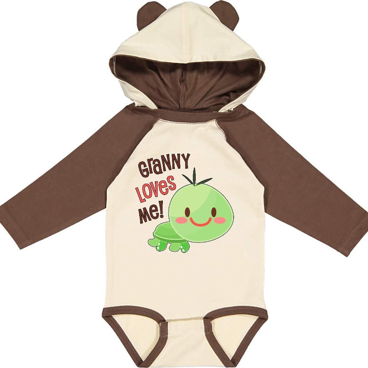 inktastic Granny Loves Me Cute Turtle Long Sleeve Creeper