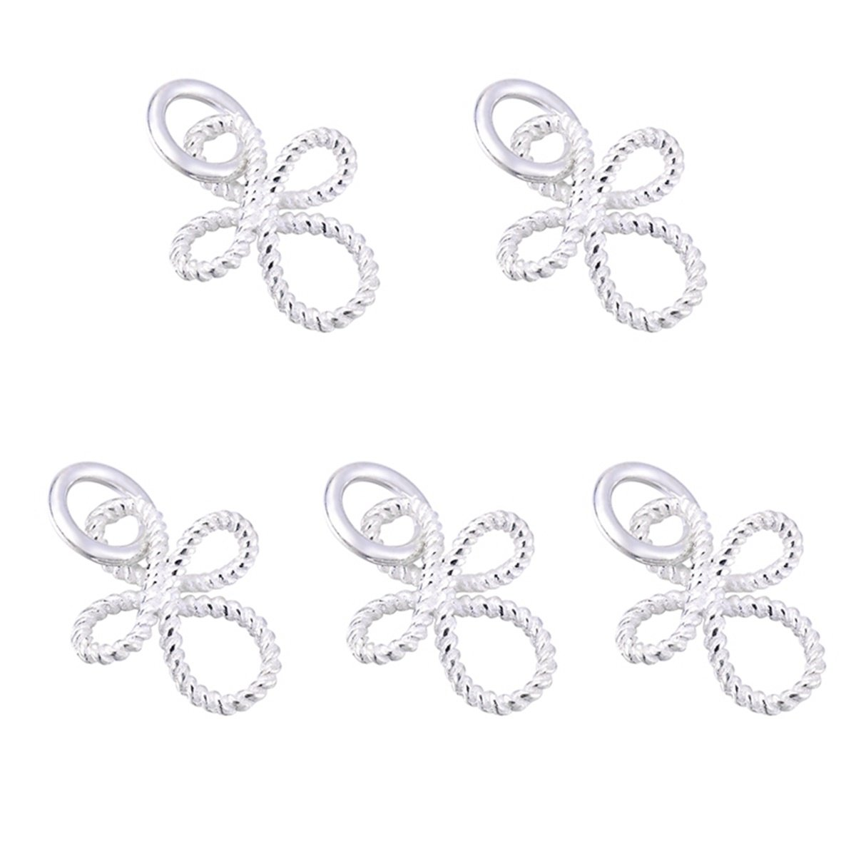 5PCS 925 Sterling Silver Hollow Lotus Necklace Charm for Jewellery Making 11mmx10.5mm Yin Feng 0AF0SA0B3R