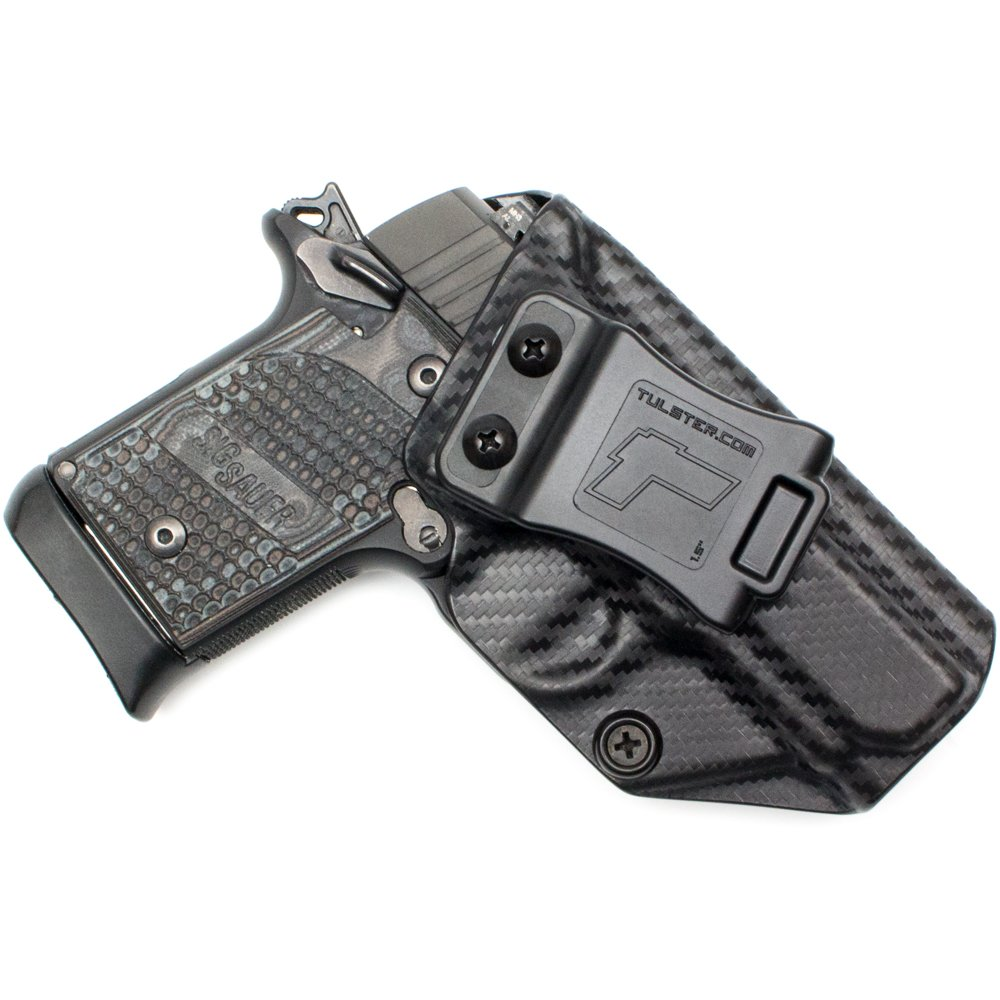 Tulster Sig P938 Holster IWB Profile Holster (Black Carbon Fiber - Right Hand)