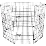 Oxgord 8-Panel Folding Wire Exercise Pen with Door for Pets, 64 by 64 by 48""