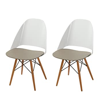 Fine Homes Art Contemporary Furniture Safe And Kid Friendly Eames Stylish Kitchen Dining Chairs Pp Easy Clean Plastic Set Of 2 Duotone White And Green Ibusinesslaw Wood Chair Design Ideas Ibusinesslaworg
