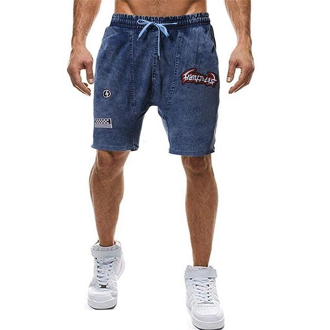 Agujero Cortos Pantalones Vaquero Mezclilla De Hombre Bermudas Cargo odeBWrCx