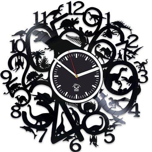 Dinosaur Vinyl Wall Clock, Godzilla Movies, Vinyl Record Clock, Kovides, Birthday Gift For Kids, Dinosaur Clock, Best Gift for Husband, Wall Clock Modern, Valentines Day Gift For Boyfriend by Kovides