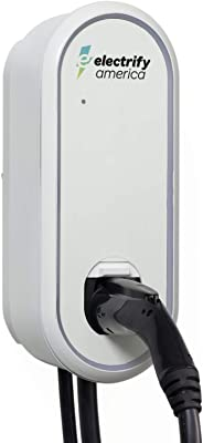 Electrify America - Electric Vehicle (EV) Home Charger - Level 2 EVSE, 240V, 32 Amps, for All Current US EVs, UL Listed, 24