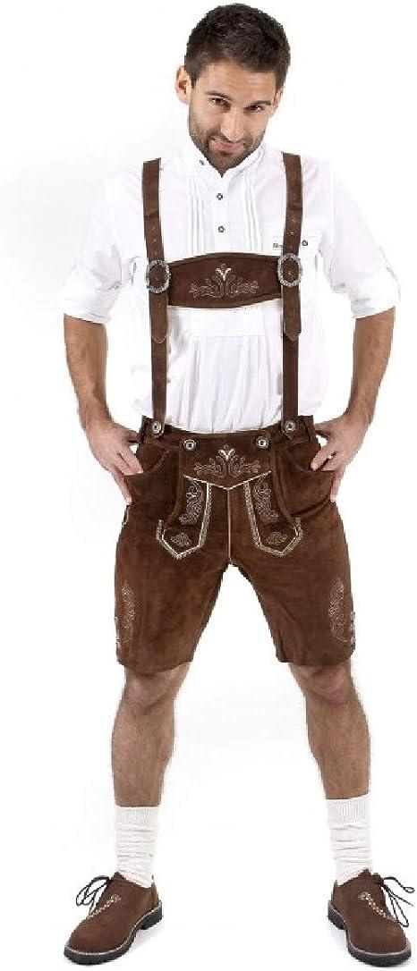 Amazon.com: Authentic pantalones de piel alemán Lederhosen ...