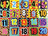 : Melissa & Doug Jumbo Numbers Wooden Chunky Puzzle (20 pcs)