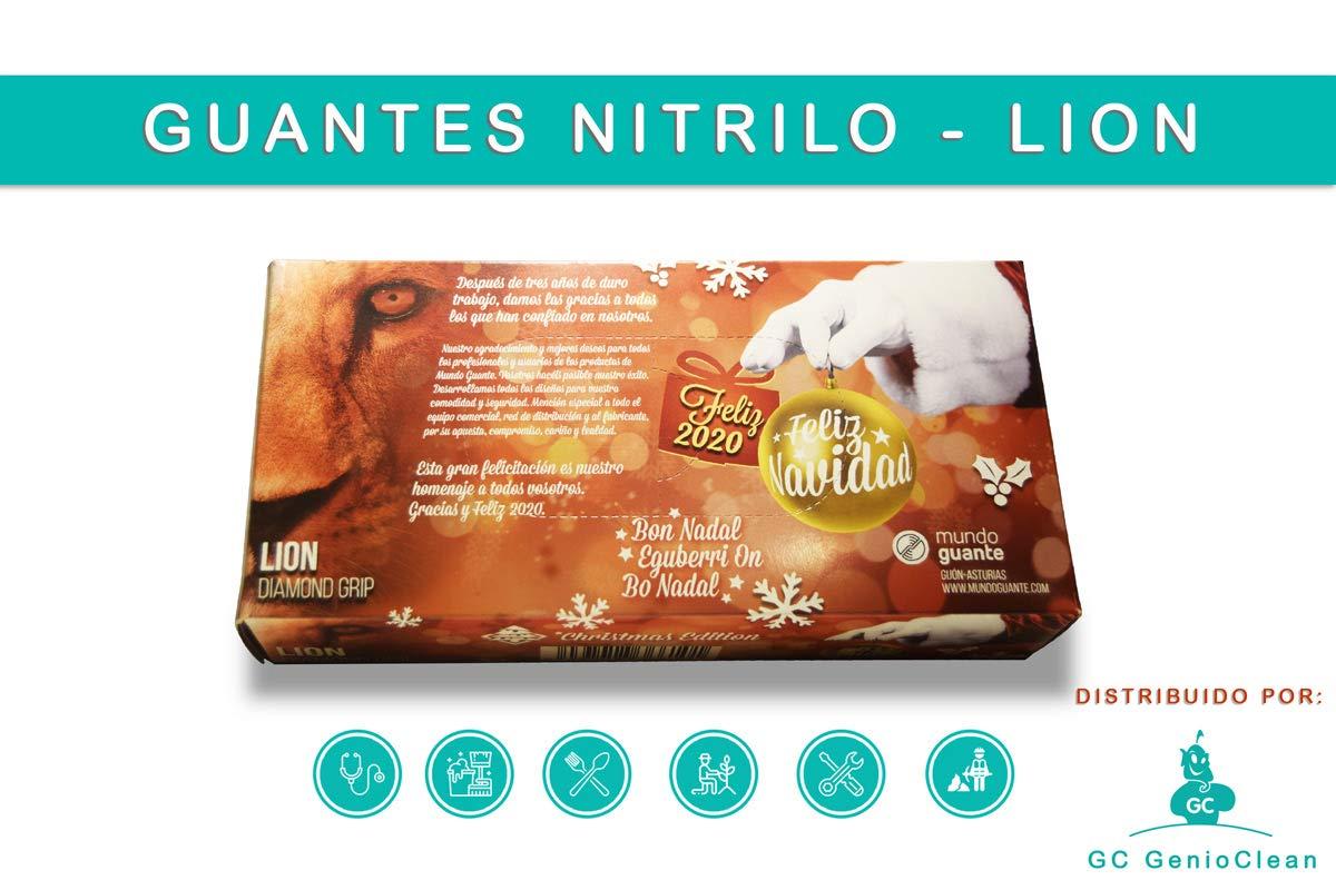 restaurantes hosteler/ía Textura DIAMANTE // GRANDES // Talla XL industria Guantes nitrilo muy resistentes para mec/ánicos 50ud.//caja