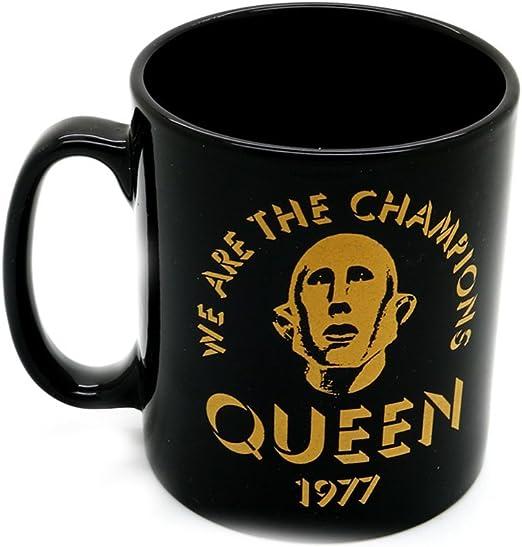 Queen We Are The Champions negro en caja regalo alta calidad Taza café oficial: Amazon.es: Hogar