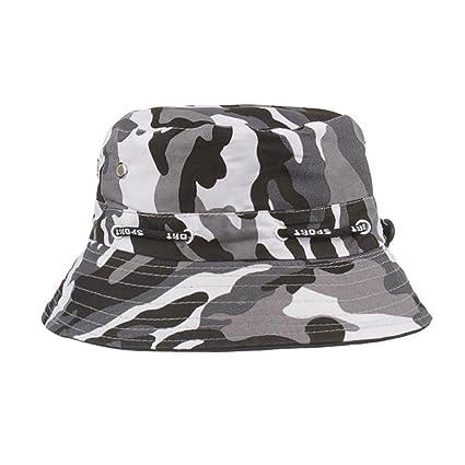 LMMVP Sombrero Sol de Pesca,Gorra de Camuflaje,Sombreros de Ocio al Aire Libre