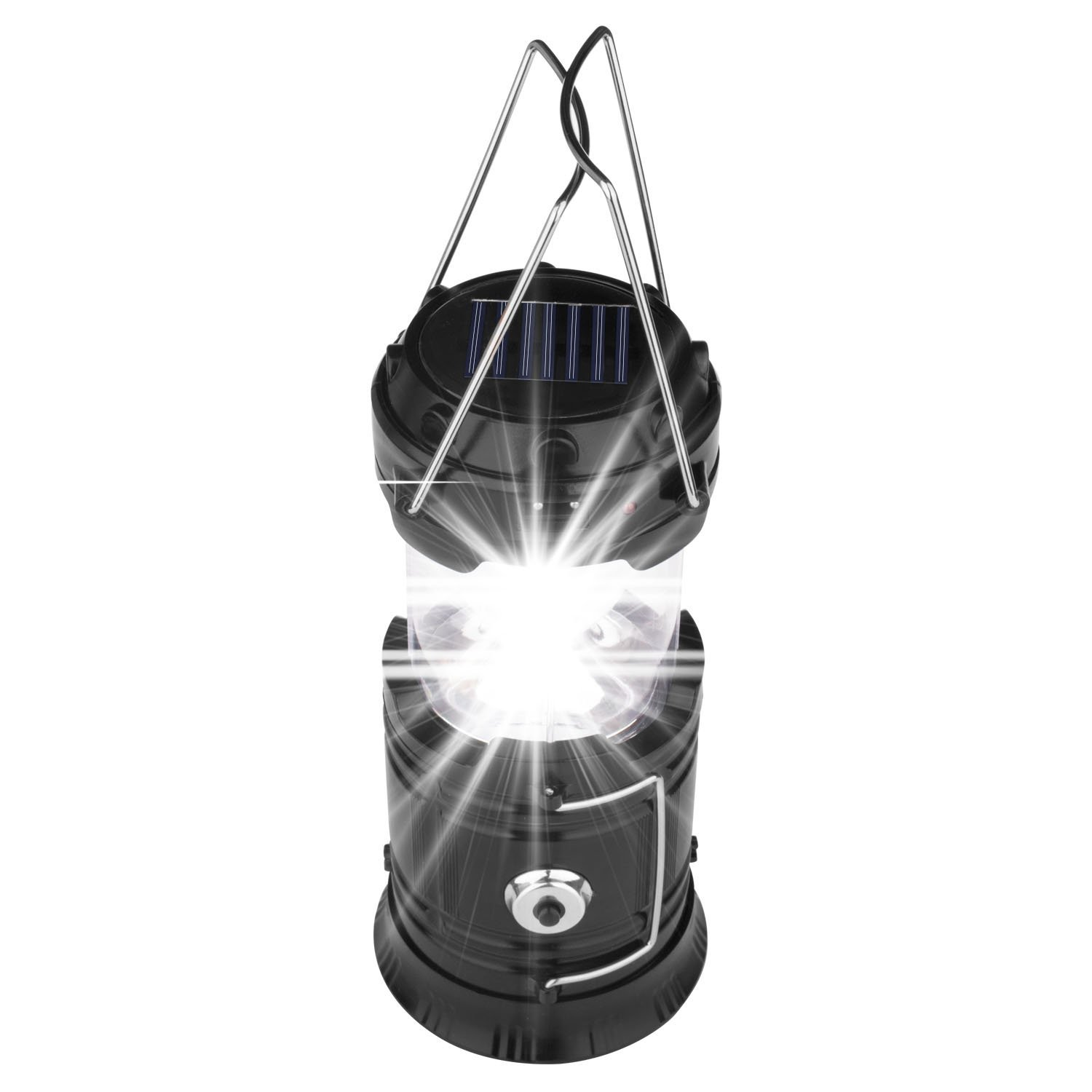 Yulan Outdoor LED Camping Lantern Light Portable Hanging Solar Tent Lamp Rechargeable for Hiking and Hurricane