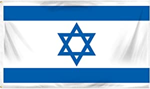 Online Stores Israel Printed Polyester Flag, 3 by 5-Feet
