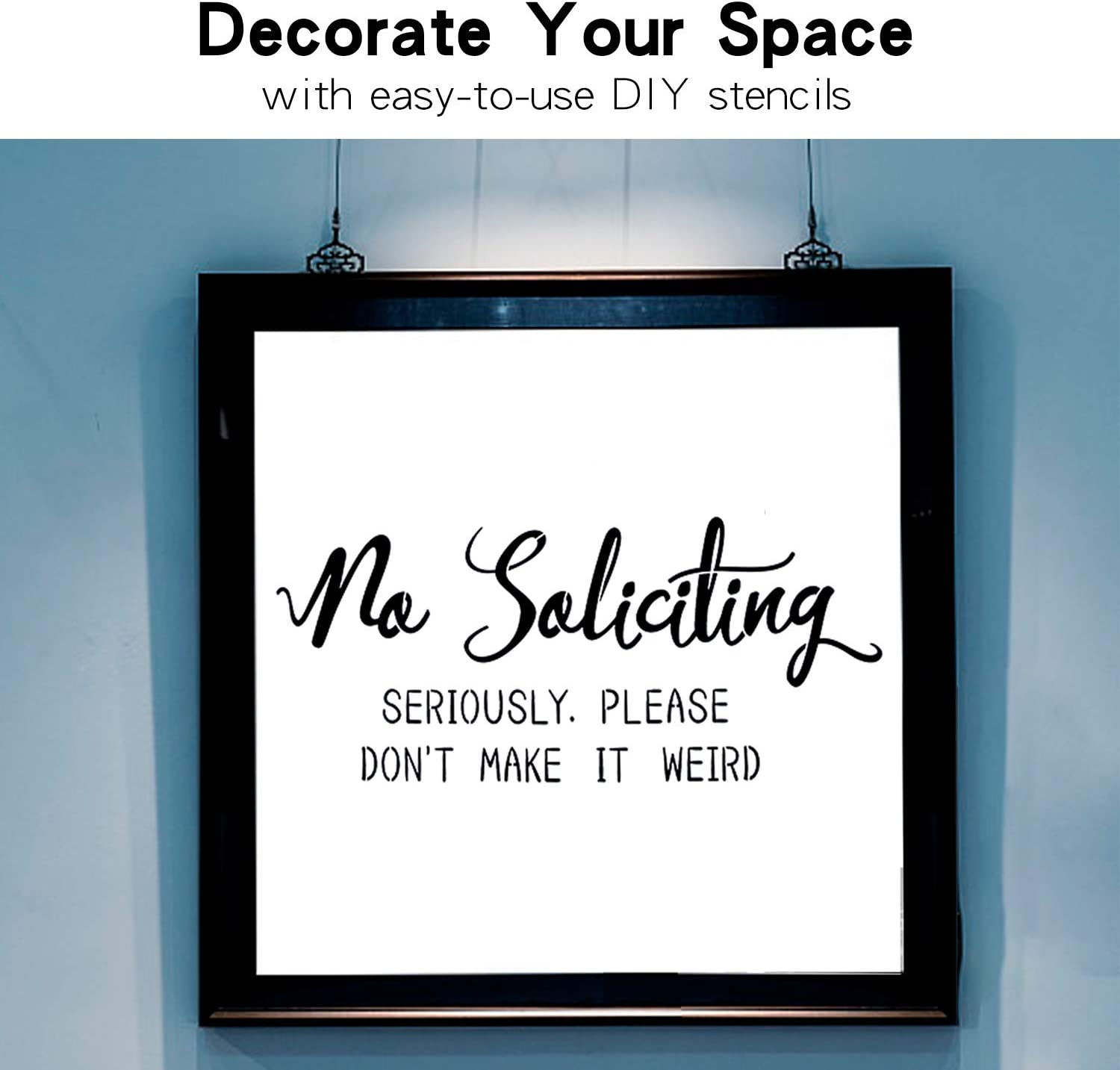 Create Beautiful Wood Stencil Signs with This Reusable Word Stencil Set of 3 Individual Stencils for Home Decor /& DIY Projects Large Vertical Welcome Sign Stencils for Painting on Wood