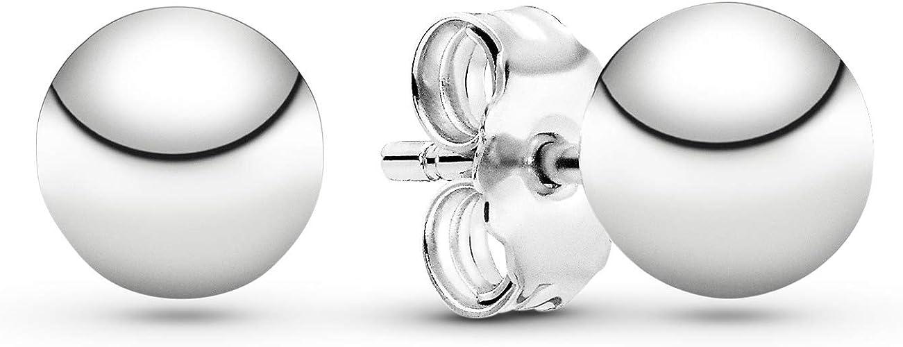 Pandora Pendientes de botón Mujer plata