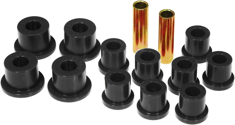 Energy Suspension 8.2103G Leaf Spring Bushing Set Black Performance Polyurethane