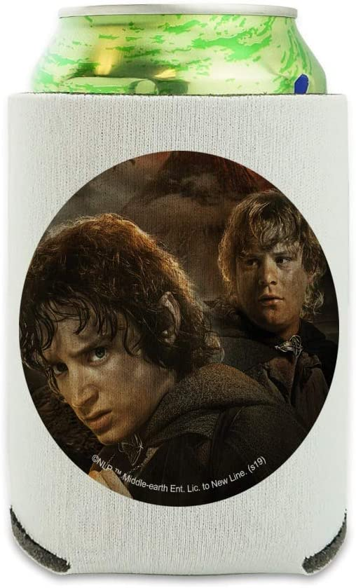 The Lord of the Rings Frodo and Sam Characters Can Cooler - Drink Sleeve Hugger Collapsible Insulator - Beverage Insulated Holder