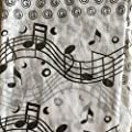Music Note Scarf - Black and White Print: Gift for Music Teacher or Student