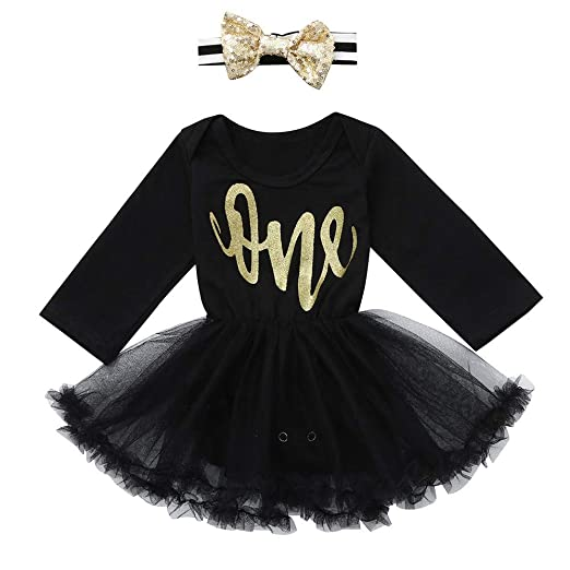 65a133db806 Amazon.com  G-Real Infant Baby Girls Letter Print Jumpsuit Tutu Romper  Party Dress Headbands Outfits Clothes  Clothing