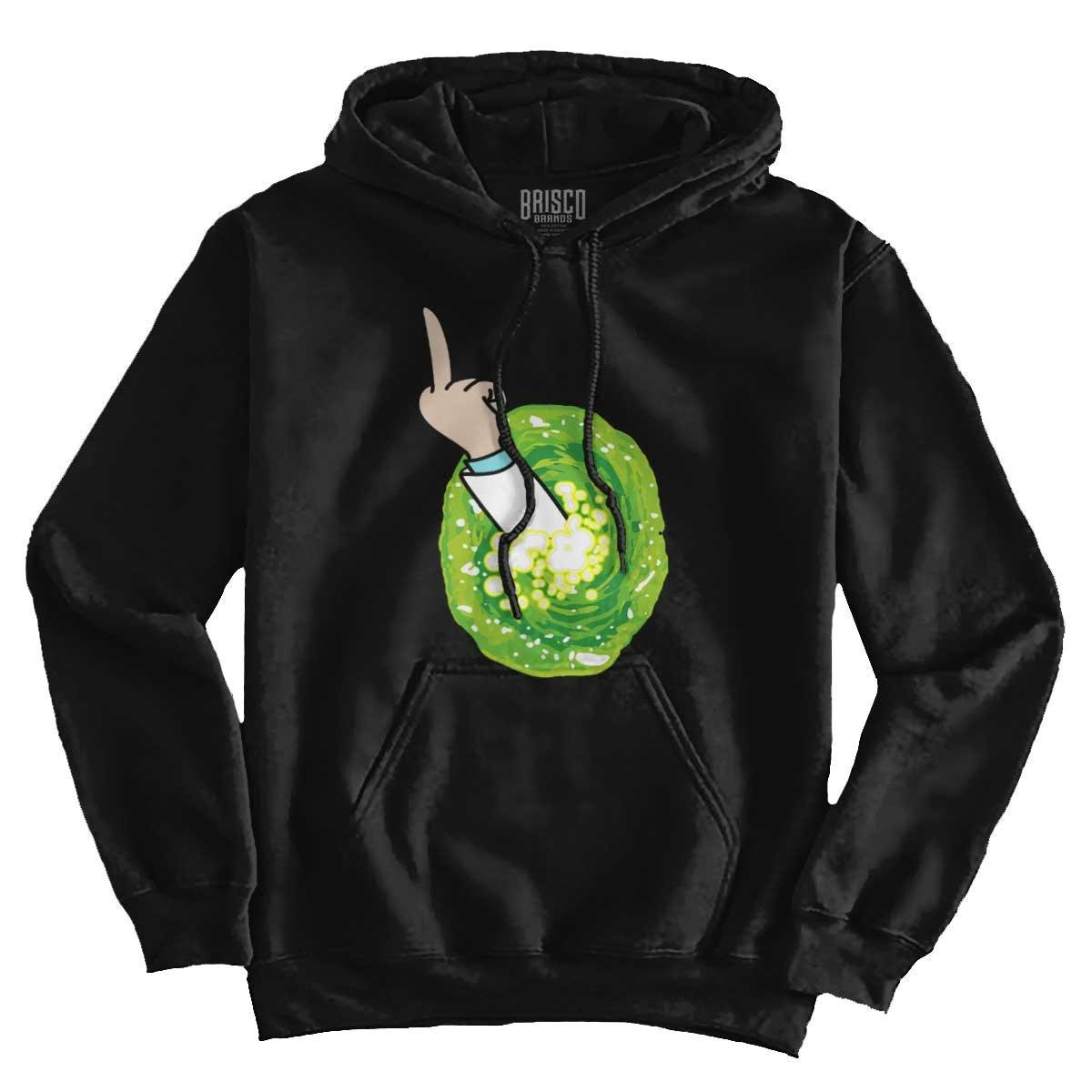 Brisco Brands Portal Rick Sanchez Schwifty Cool Funny Morty GLIP Glop Edgy Hoodie Sweatshirt by Brisco Brands (Image #3)
