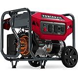 Powermate P0081600 Gas Generator 7500 Watt 49 ST, Powered by Generac, Red, Black