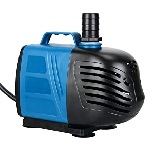 Uniclife 400-1000 GPH Submersible/Inline Water Pump for Pond Pool Fountain Aquarium Fish Tank