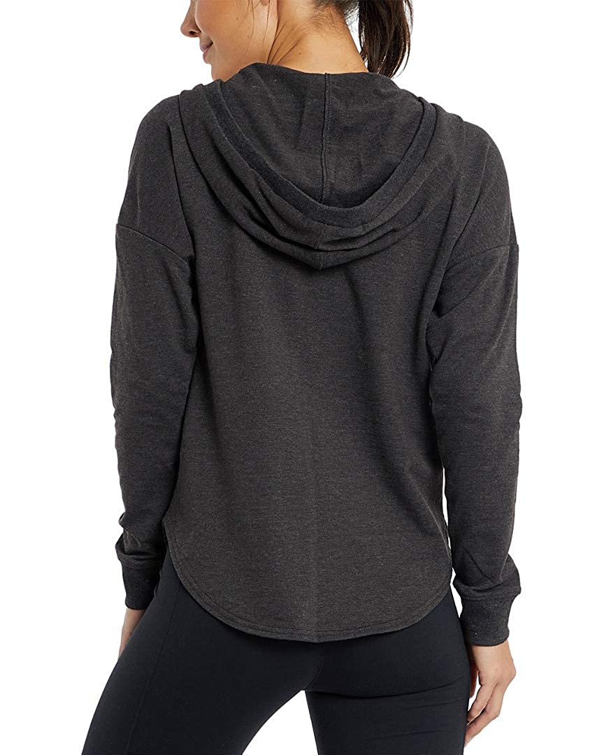 Marika Womens Long Sleeves V Neck Lace Up Hoodie L
