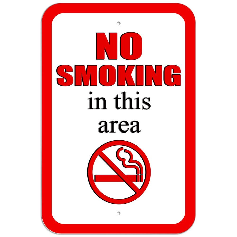 Plástico Señal de prohibido fumar en esta zona símbolo ...