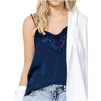 789aecc1cdc Amazon.com: NUWFOR Fashion Women Camis Solid Lace Sleeveless V-Neck ...