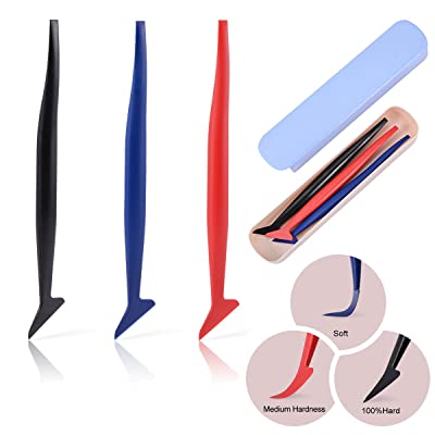 Ehdis 3 in 1 Micro Mini Squeegee Vinyl Wrap Graphic Application Tucking Molding Tool for Film into The Smallest Gaps: Automotive