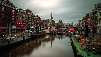 Schwimmender Weihnachtsmarkt.Amazon De Leiden Altstadt Und Schwimmende Weihnachtsmarkt
