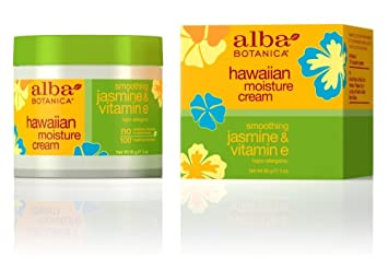 Alba Botanica Hawaiian Moisture Cream, Soothing Jasmine & Vitamin E 3 oz (Pack