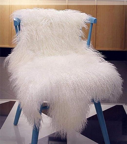 Luxurious Curly White Icelandic Sheepskin Hide Rug Chair Throw  Animal Friendly