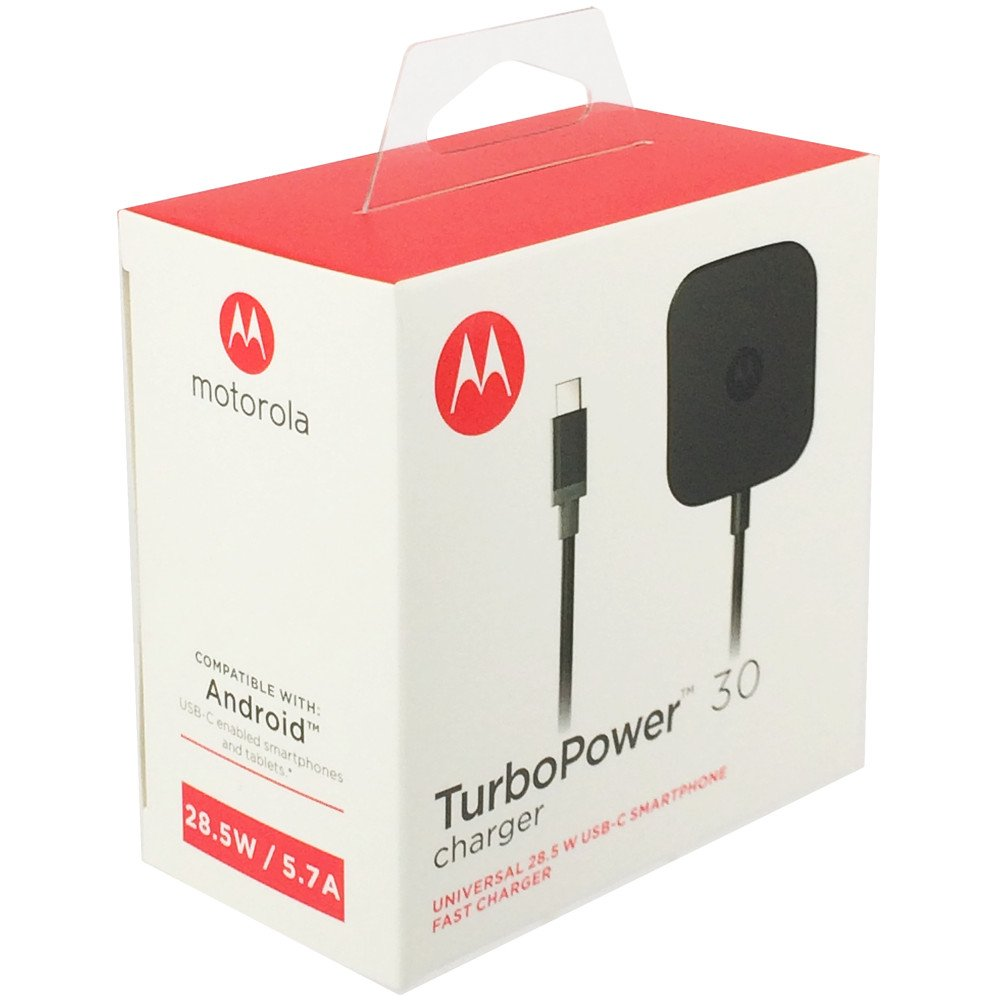 Motorola TurboPower 30 USB-C/Type C Fast Charger - SPN5912A (Retail Packaging) for Moto Z Force by Motorola (Image #5)