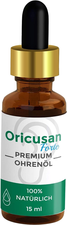 Premium Orejeras de aceite para o/ídos por fin mejor o/ír Medio natural para mejorar su capacidad auditiva y prevenir inflamaciones Oricusan Forte